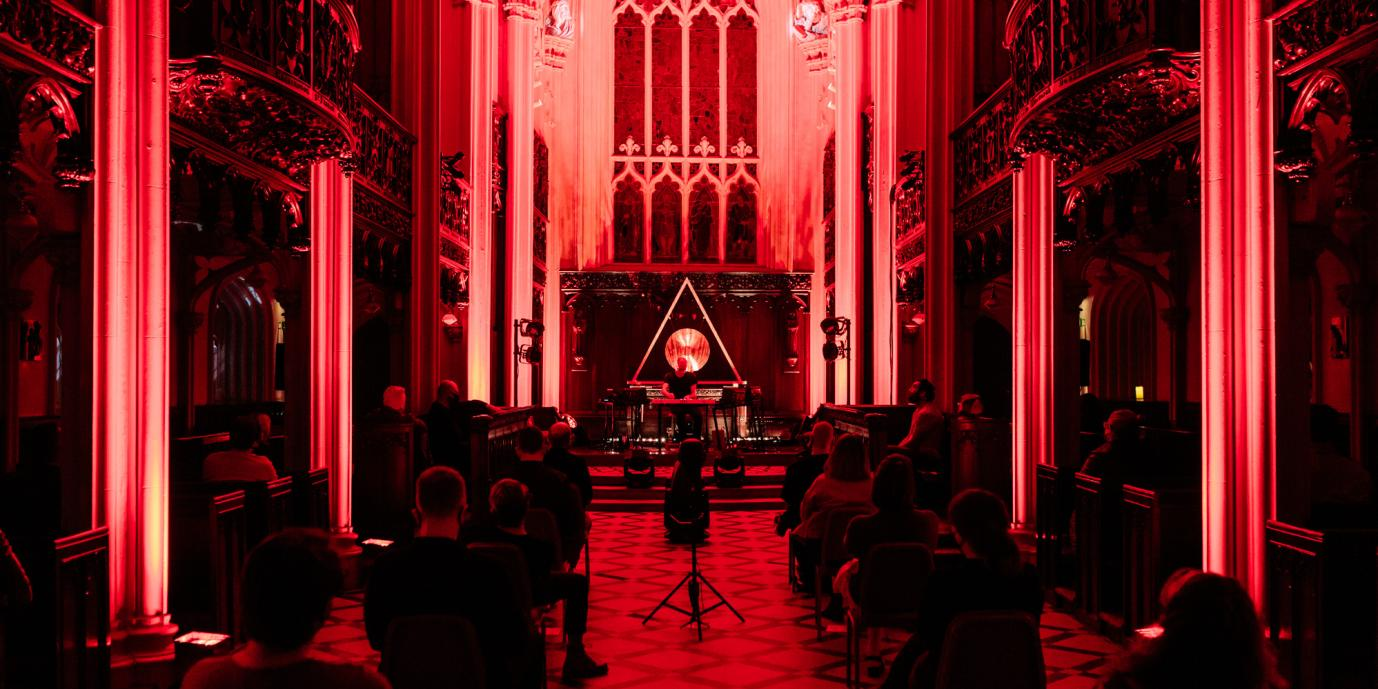 Simon Cullen performs Holding Patterns at Chapel Royal, Sept 2020.