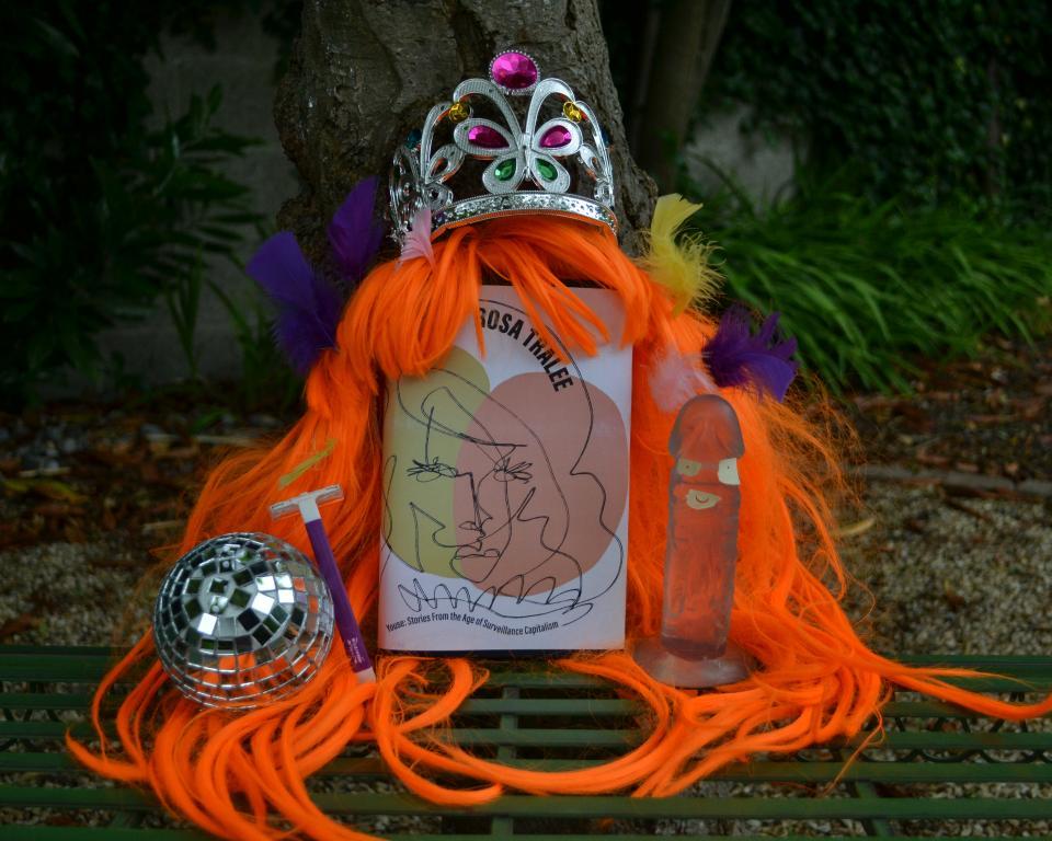 An orange wig, a disco ball, shaver, a Rosa Tralee novel, a feather boa and a crown