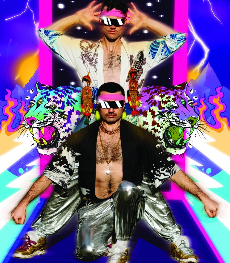 Champions of Dance, two men on a colorful background